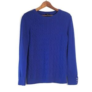 Talbots Cable Knit Crew Neck Sweater